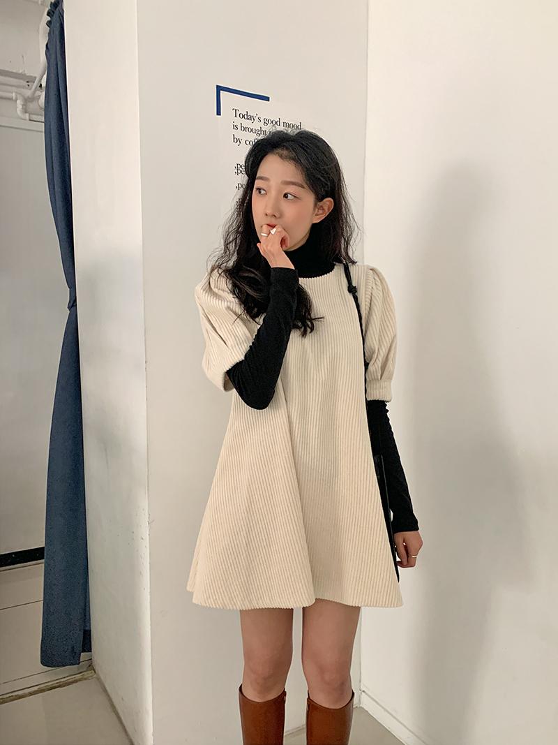 Again Corduroy Mini Dress