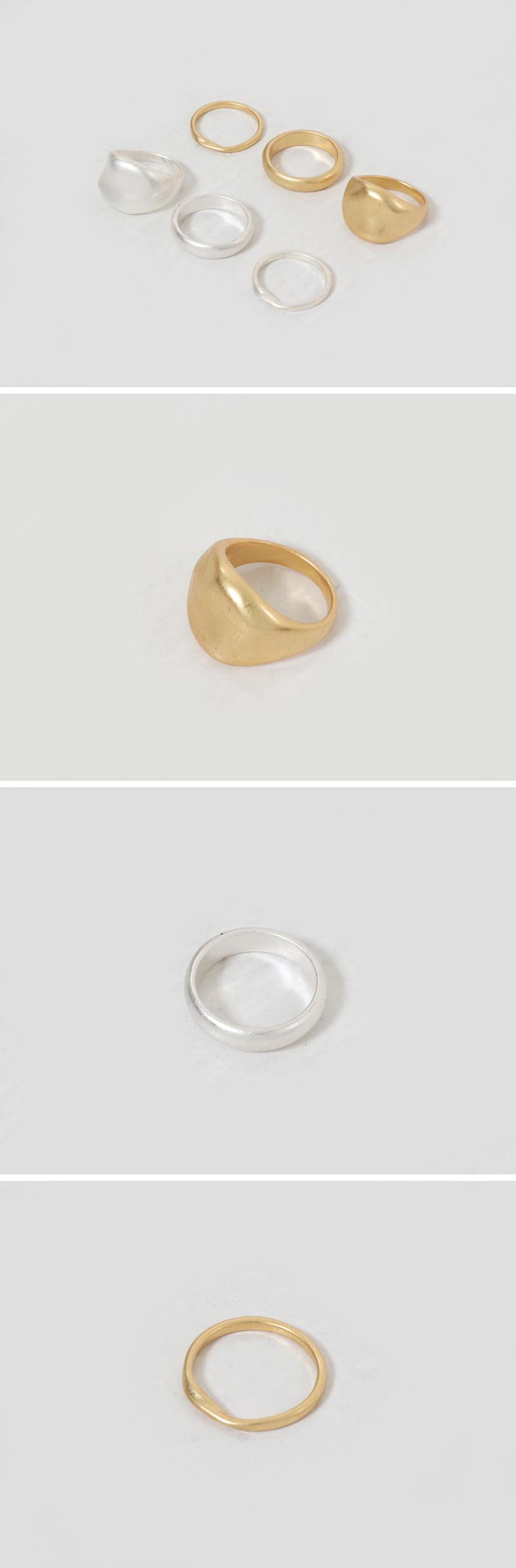 Daily matte ring SET