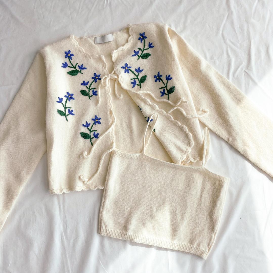 Lavender Nashi Cardigan Set