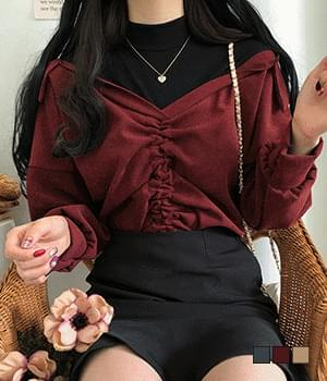 Dion's polar one-piece ruched blouse 襯衫