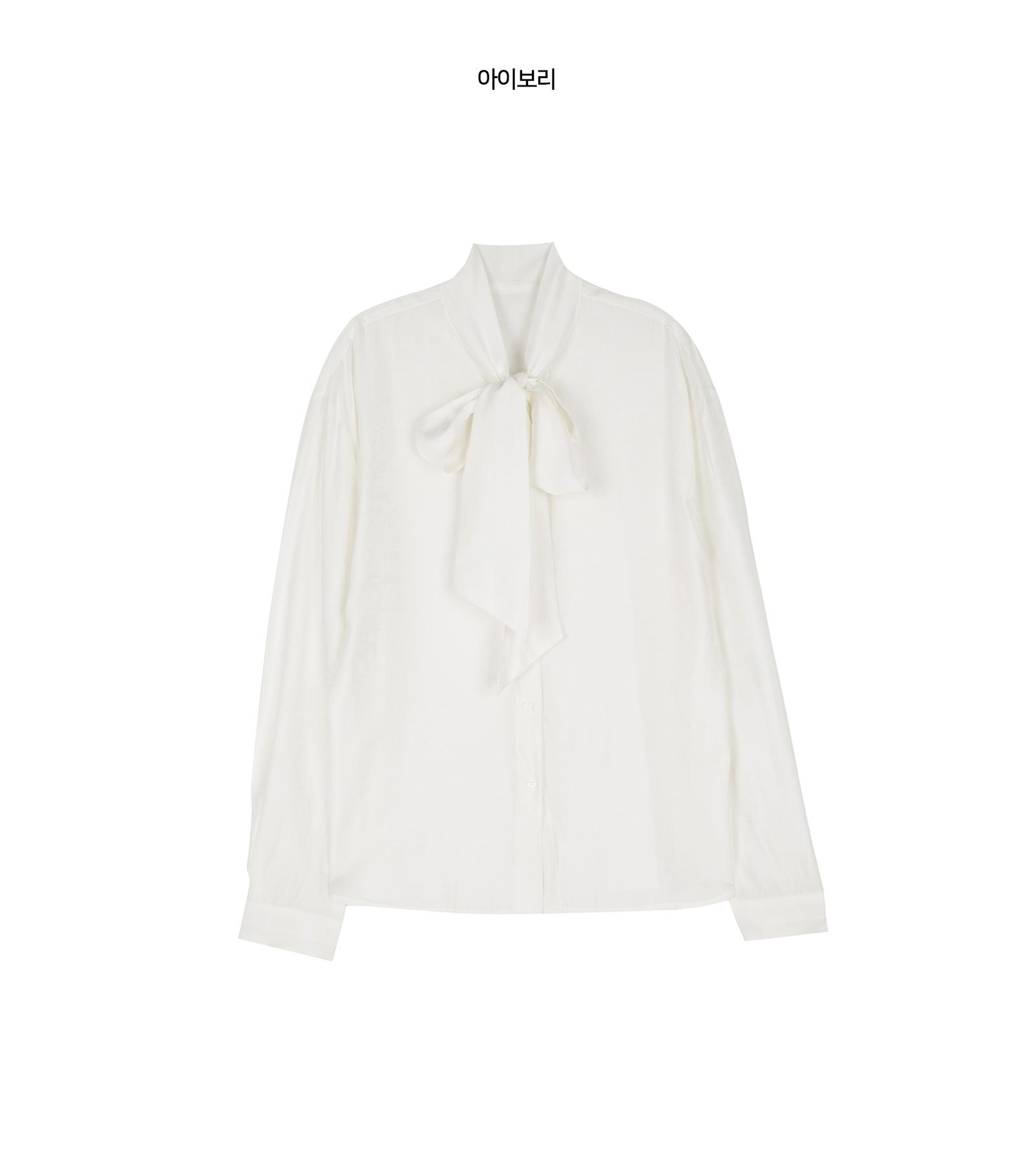 Classic volume tie-strap blouse