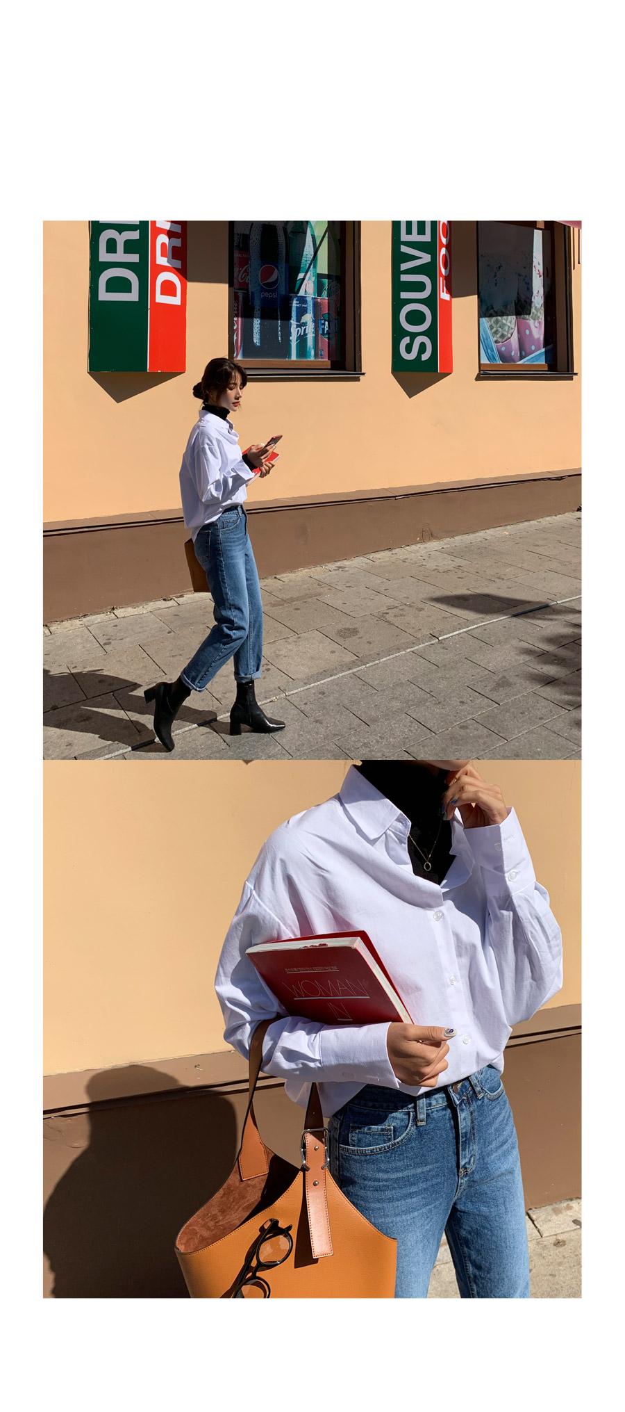 翻領排扣大衣