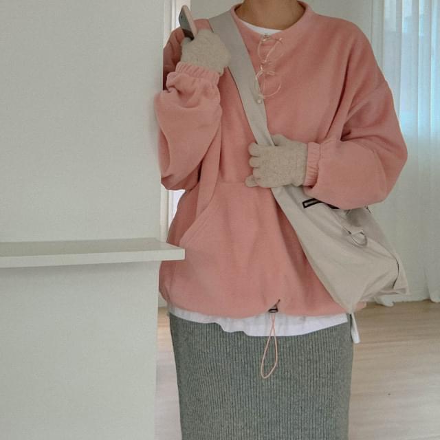 Kangaroo pocket Woolen Sweatshirt
