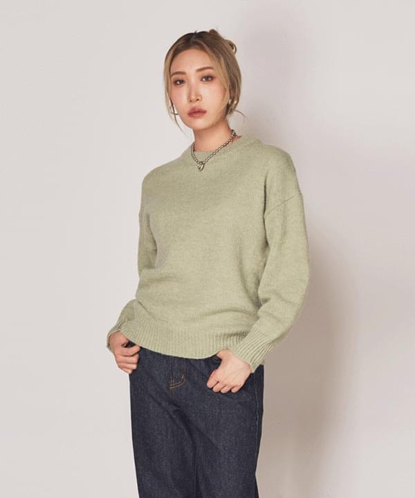 Cashmere Basic Plain Round Knit