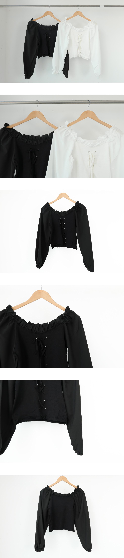 512 eyelet frill off-shoulder blouse