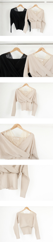 Lace wrap knit