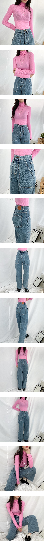 5176 square pocket wide denim pants