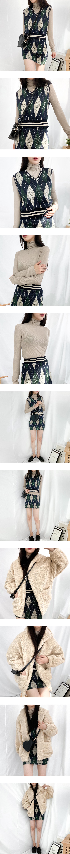 Argyle Knit Vest Skirt SET