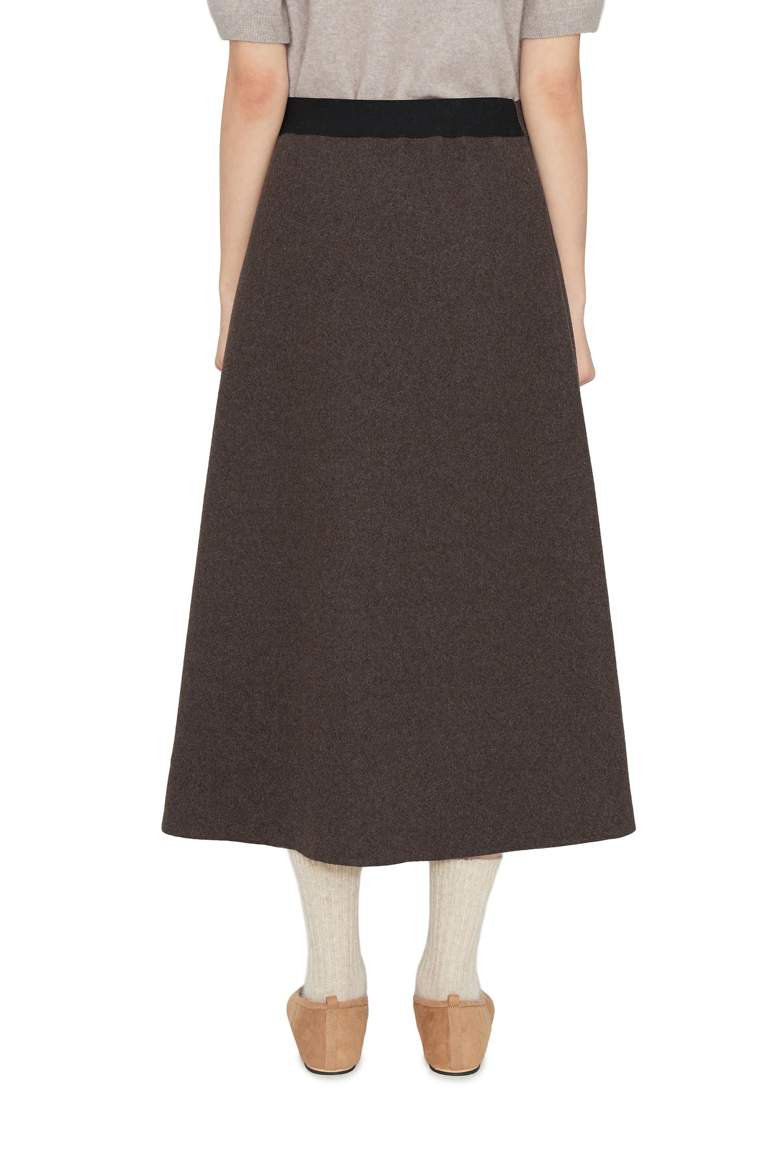 Mave wool flared maxi skirt