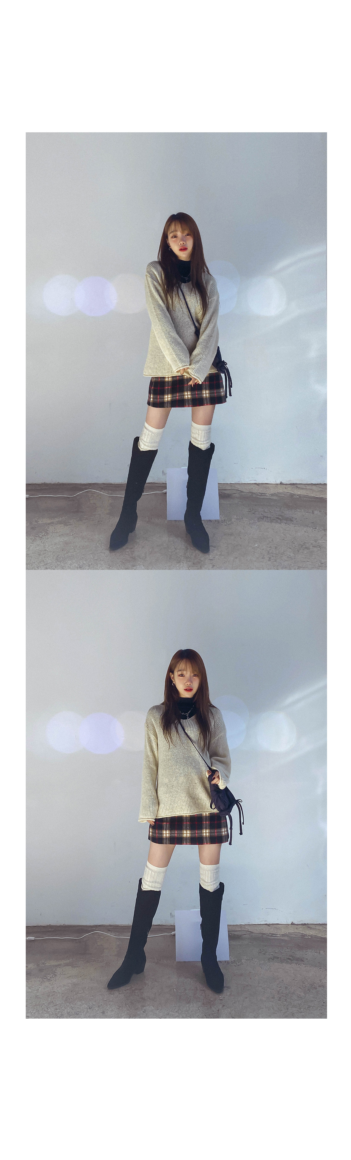 Check ever mini skirt