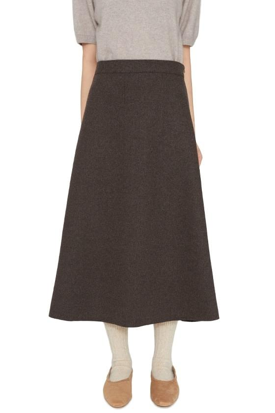 Mave wool flared maxi skirt