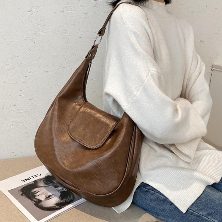 Urban Bros round hobo leather bag
