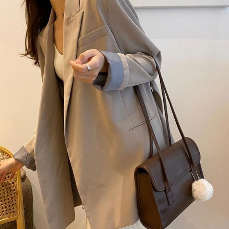 Urban Bros Square Long Shoulder Leather Bag