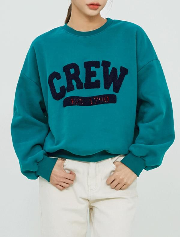 Crew embroidery brushed mtm