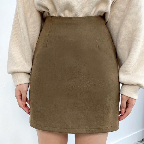 Basic minimalist brushed skirt