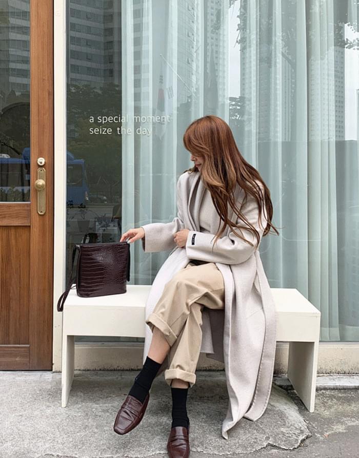 韓國空運 - From Wool Handmade Long Coat 大衣
