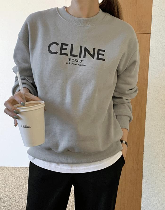 Celine lettering brushed sweatshirt