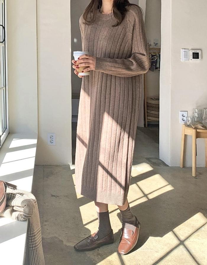 Ross Ribbed Knit Long Dress