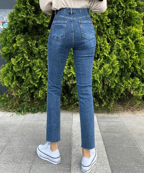 Hedging Washed Slim Date Jeans