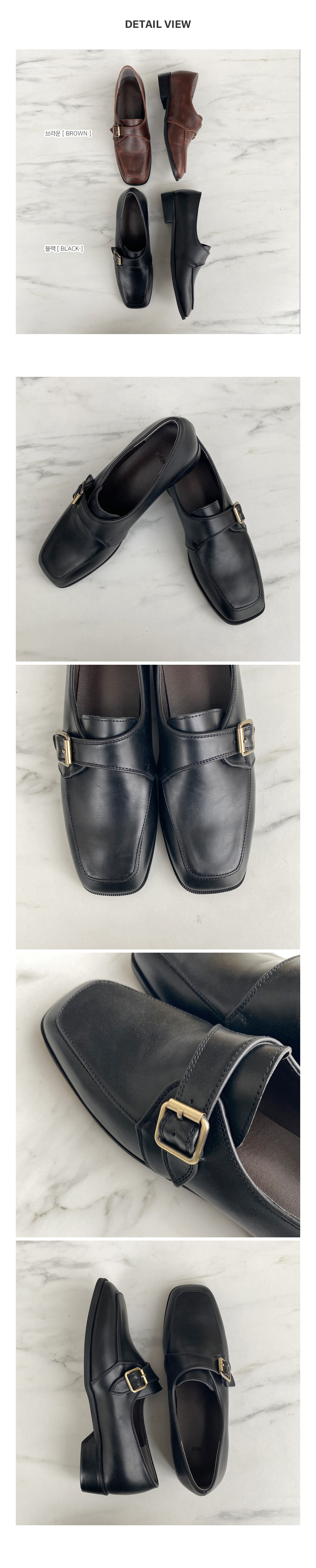 852 buckle loafers-2color