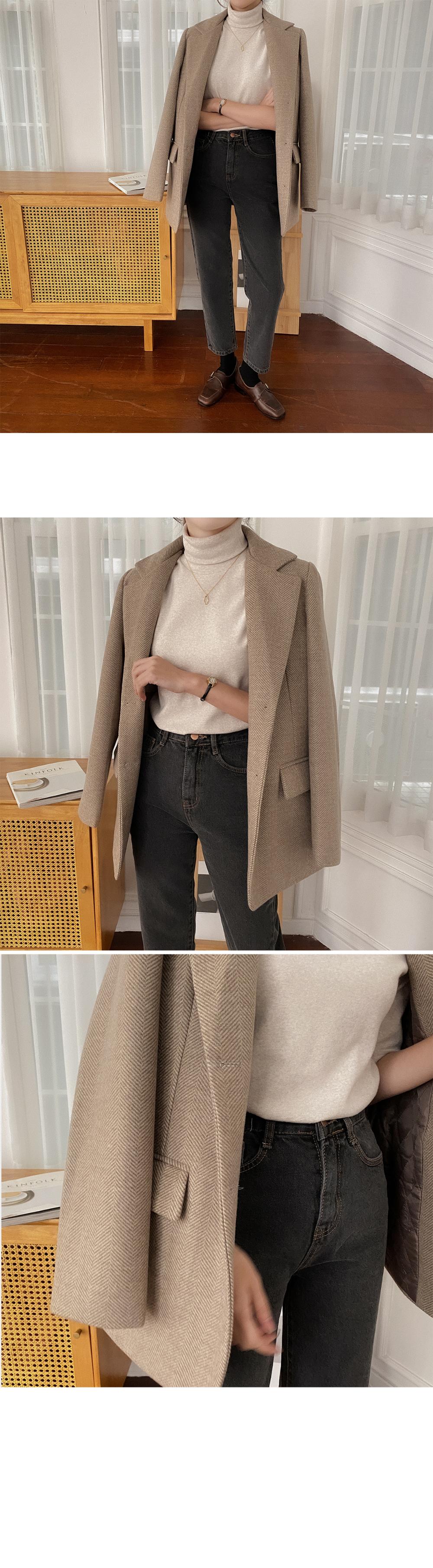 205 Semi Baggy Denim Pants-2color