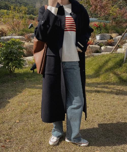Ruched Hood Handmade Coat-Wool 90
