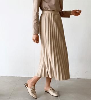Wool Banding Pleated Long Skirt #51276 裙子