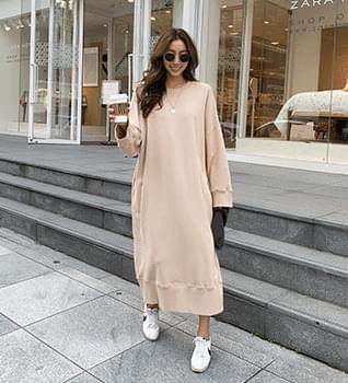 Cotton Long Loose Fit Dress #37759 洋裝