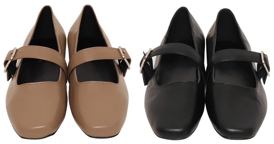 Basic Mary Jane Flat Shoes