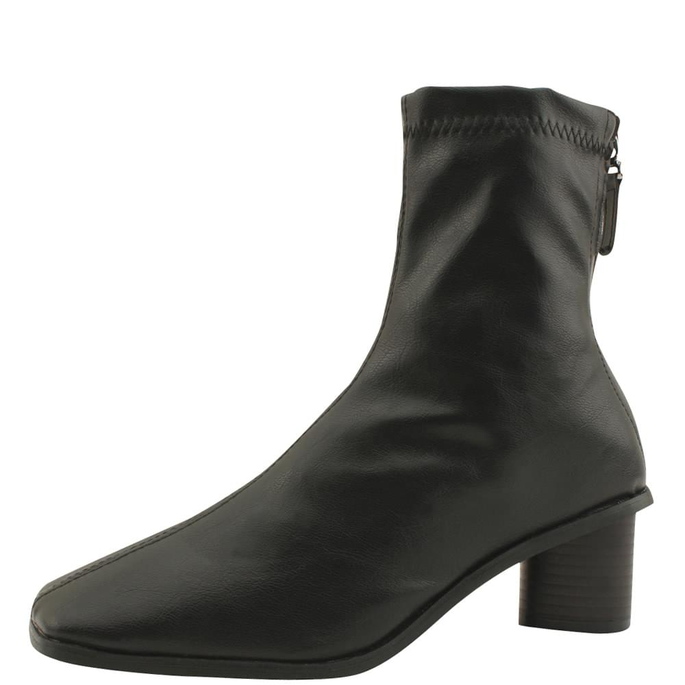 Smygup Middle Heel Span Ankle Boots Black