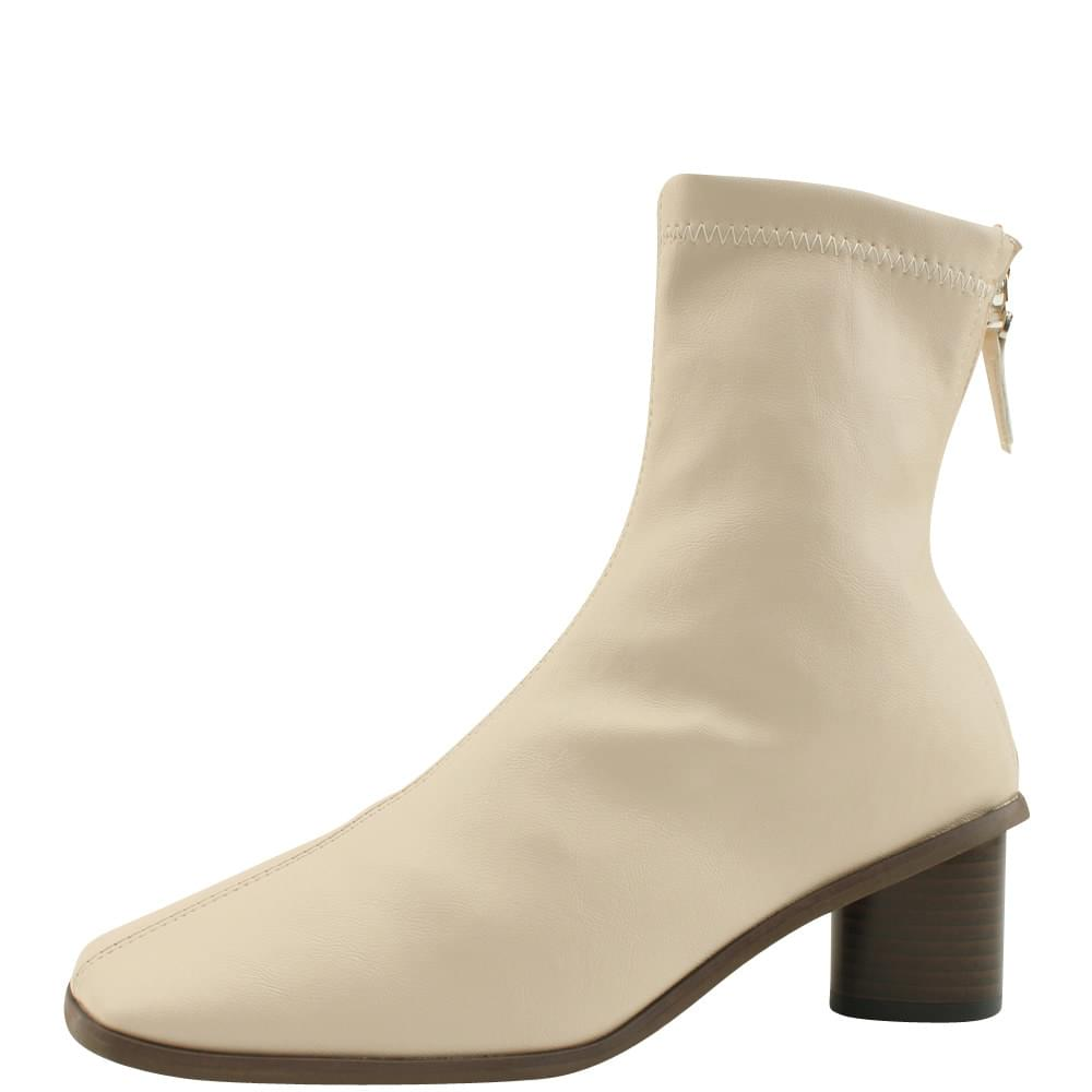 Smygup Middle Hill Span Ankle Boots Light Beige