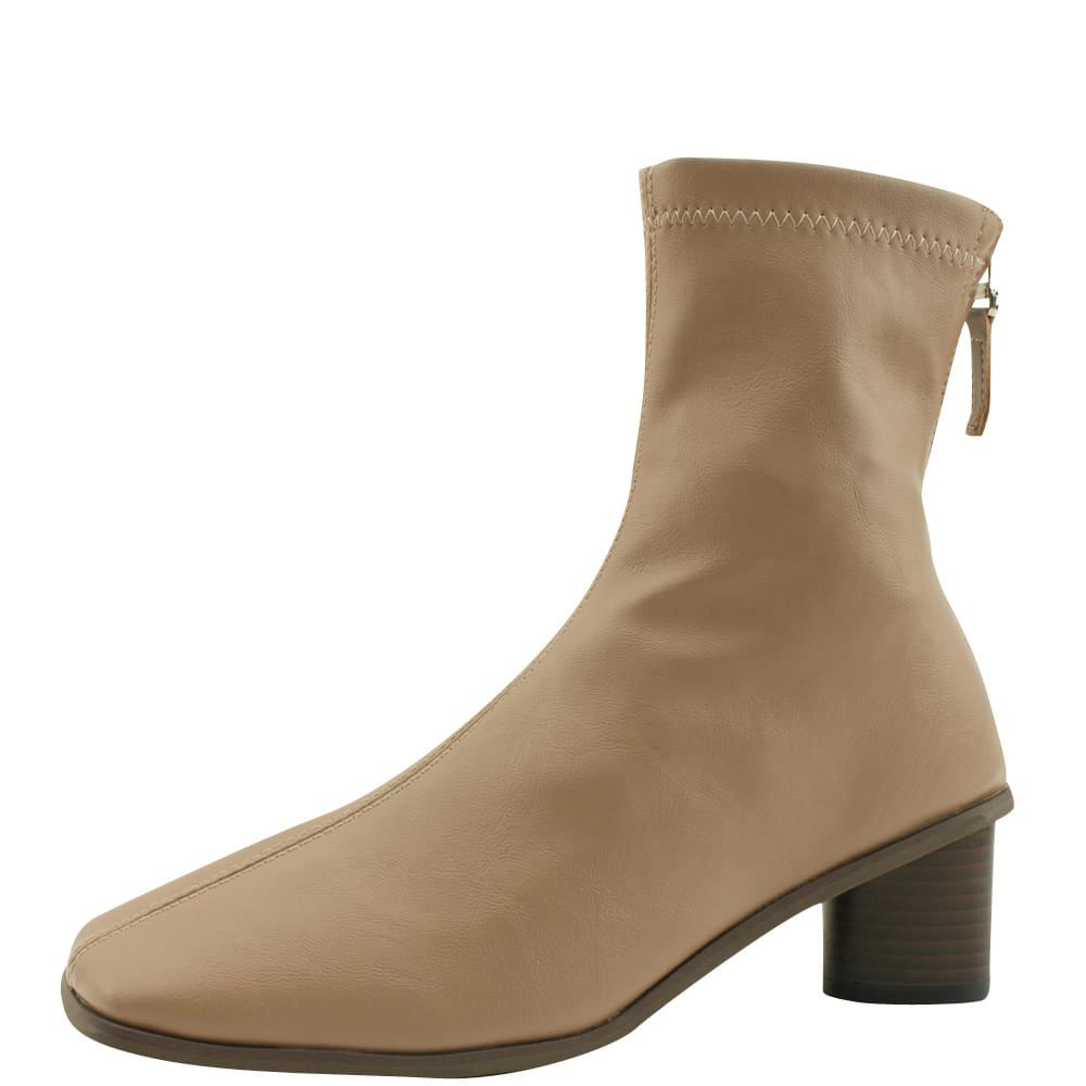 Smygup Middle Hill Span Ankle Boots Jean Beige