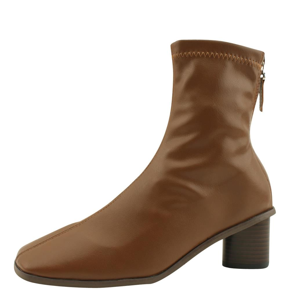 Smigup Middle Hill Span Ankle Boots Brown