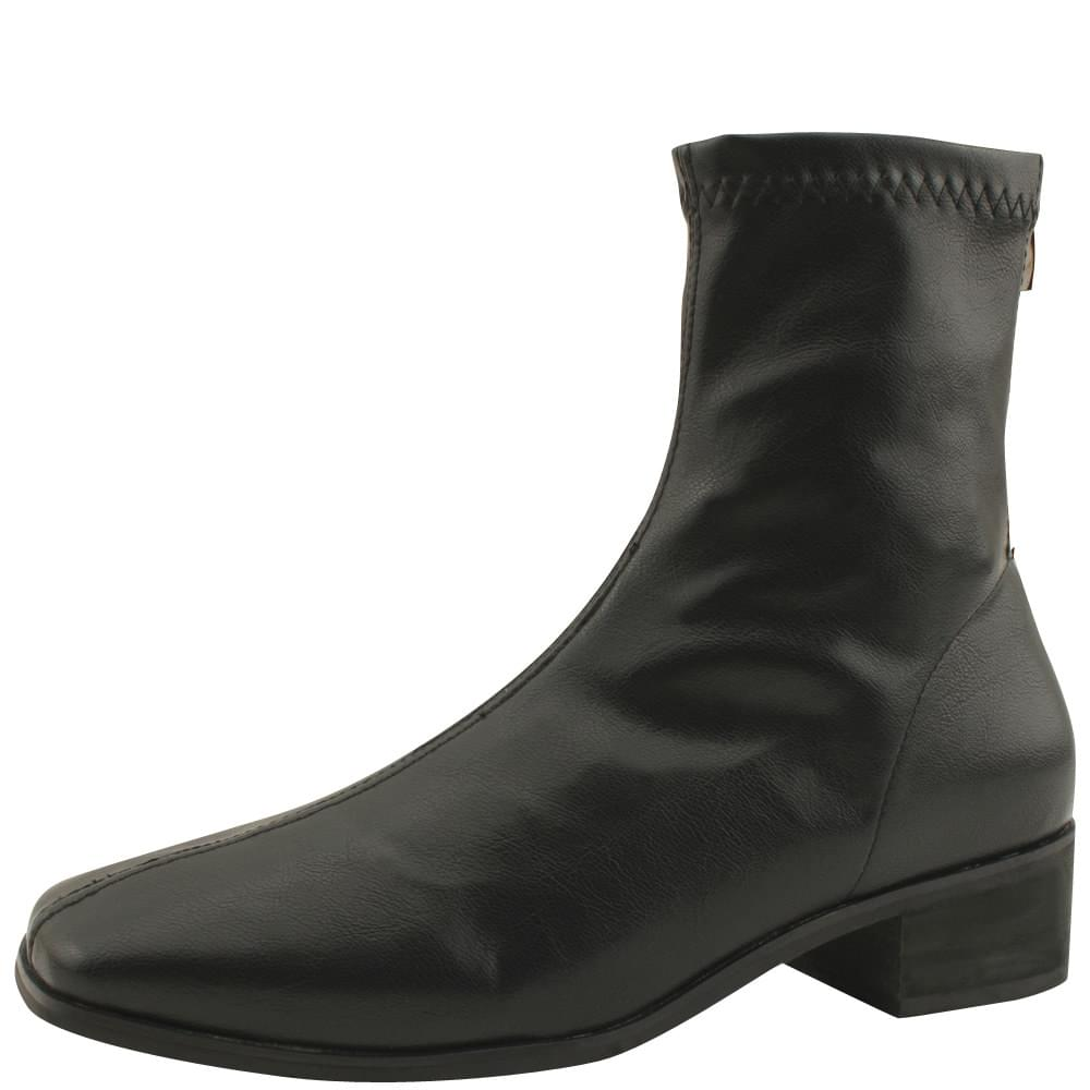 Smygup Low Heel Span Ankle Boots Black