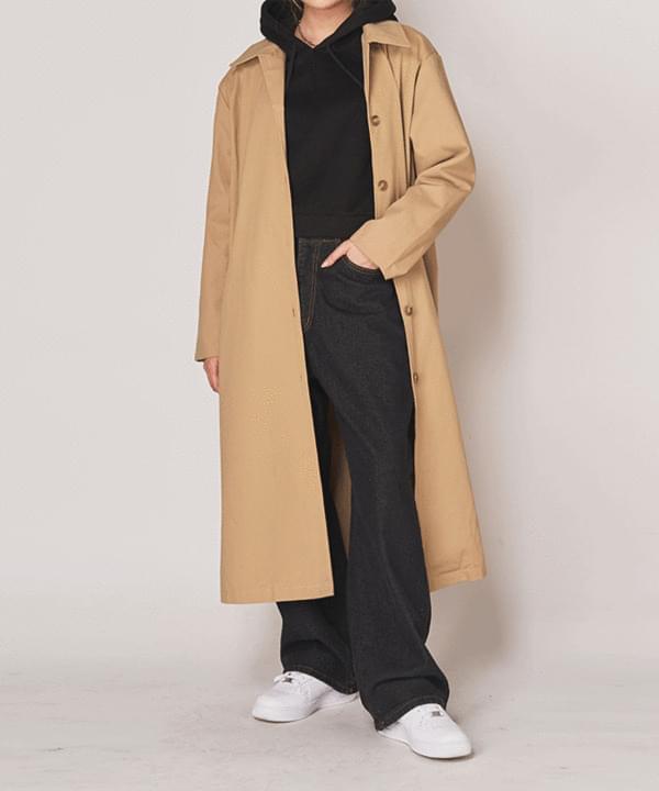 Basic trench long coat