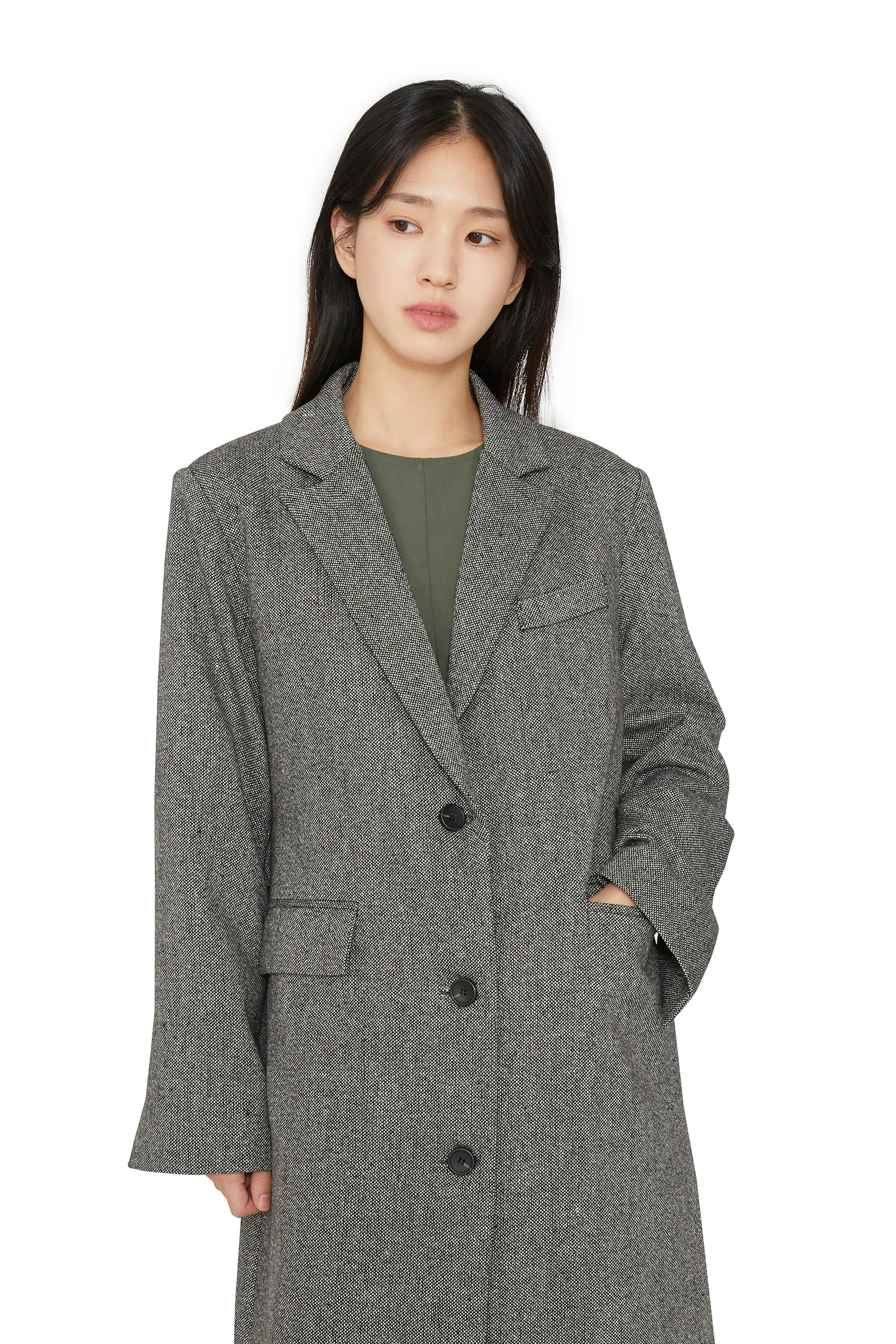 Class single long coat