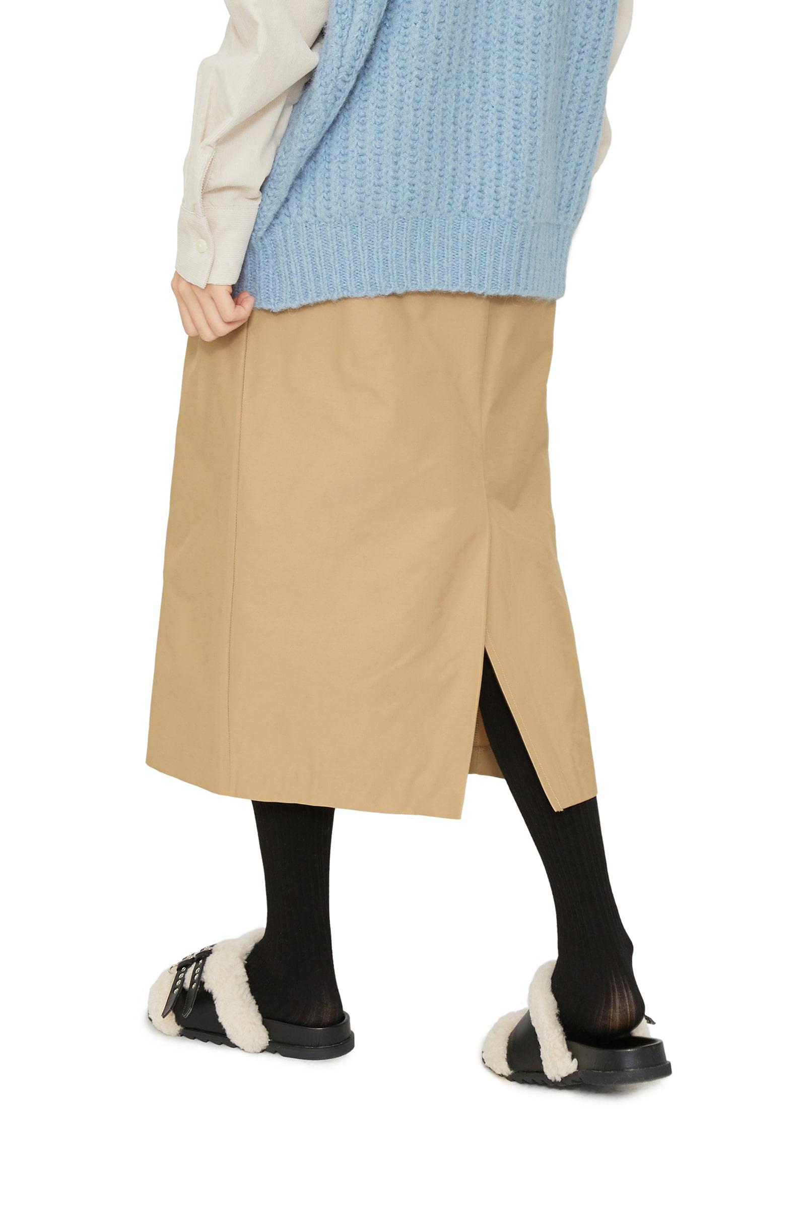 Flat basic midi skirt
