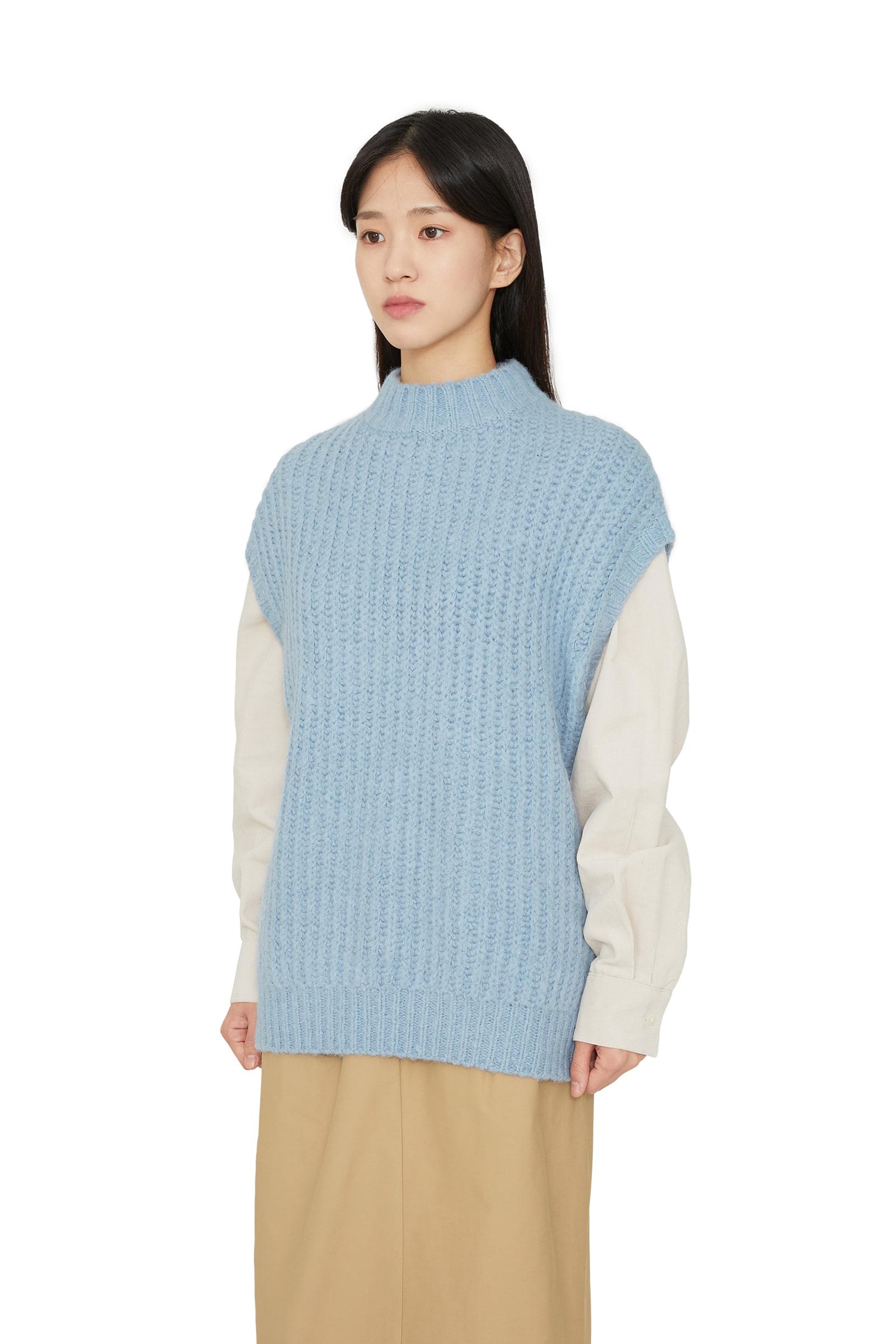 Clap alpaca wool turtleneck knit top
