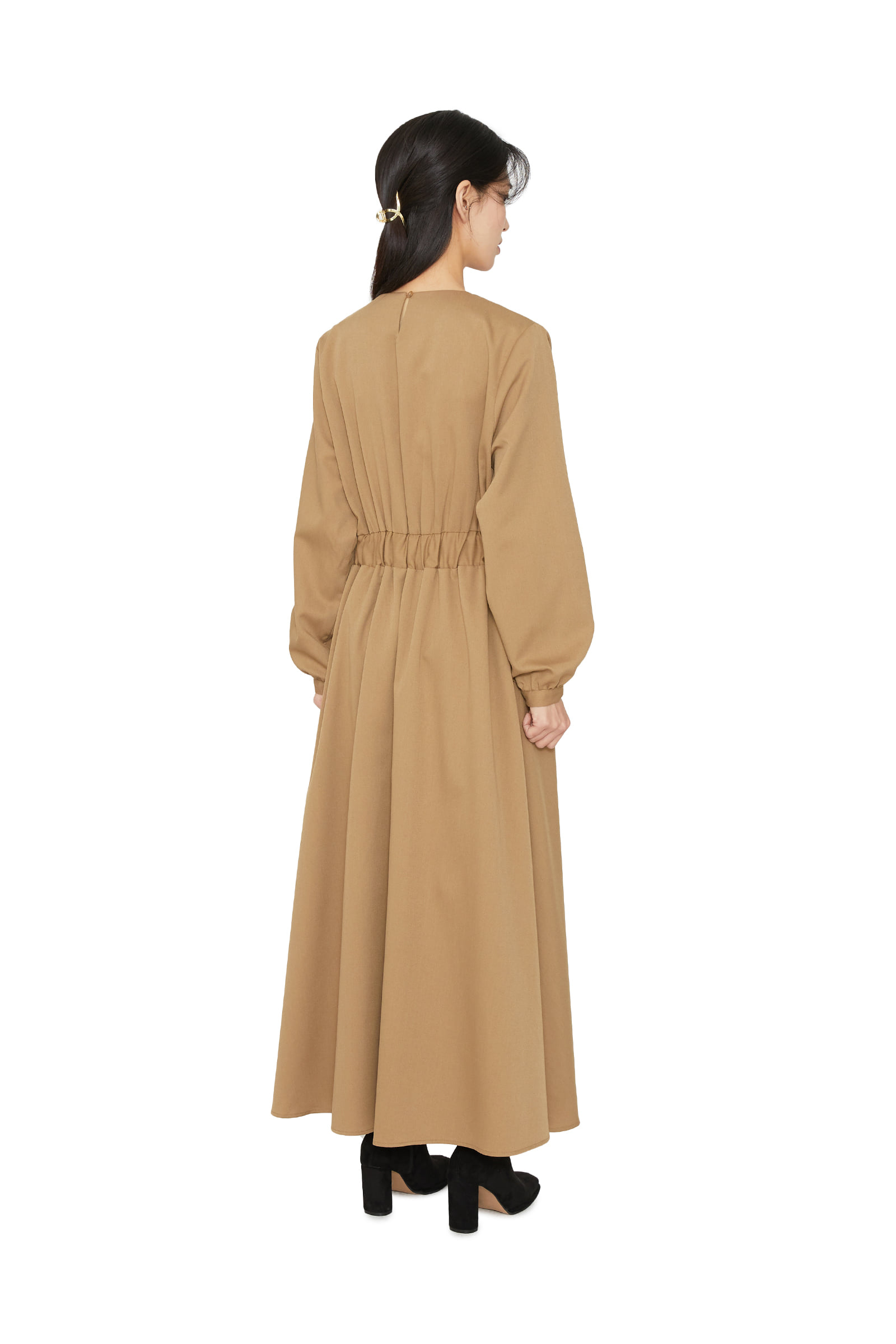 Solid flared maxi dress