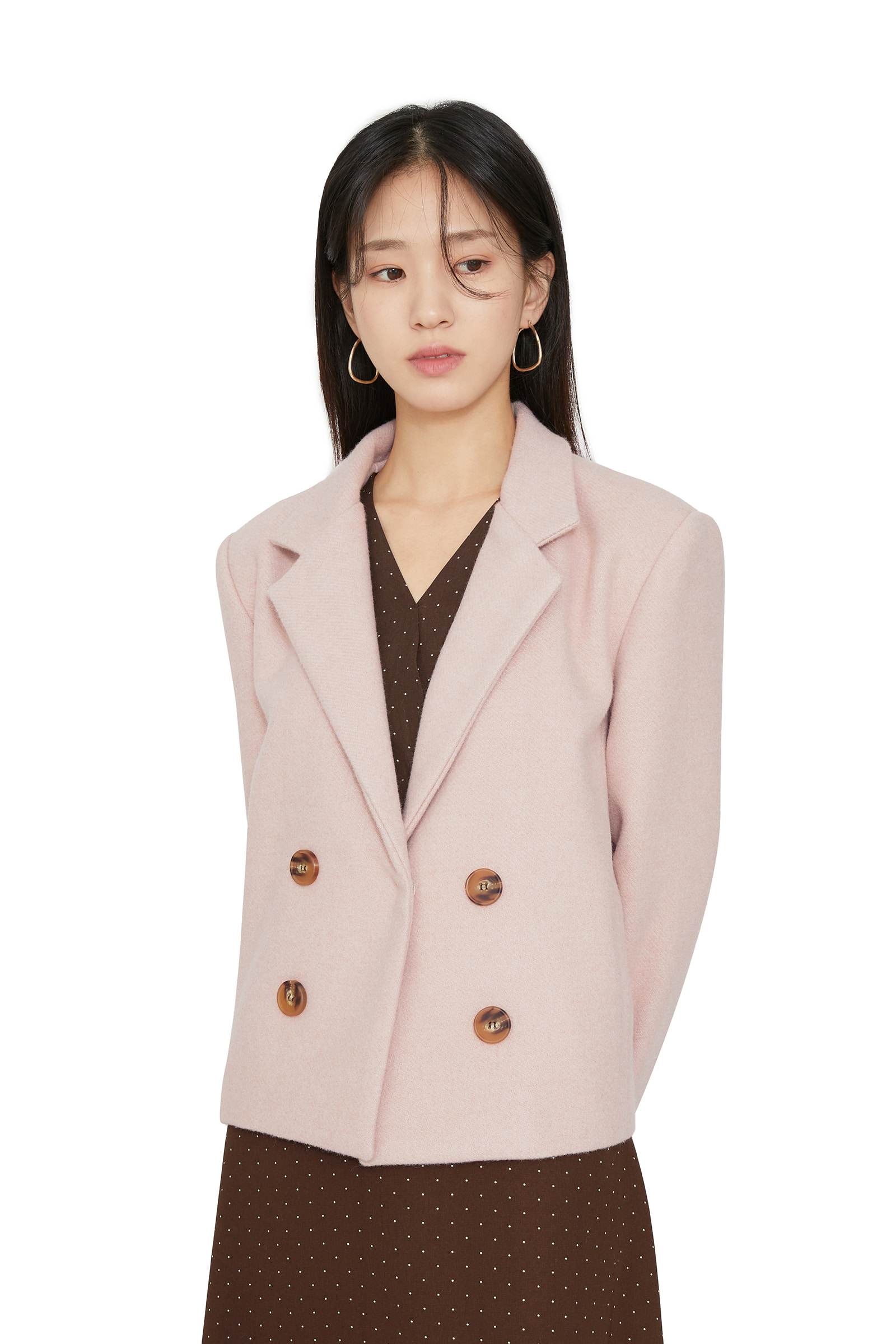Faux wool short coat