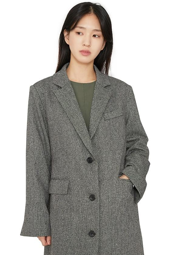 Class single long coat 大衣外套