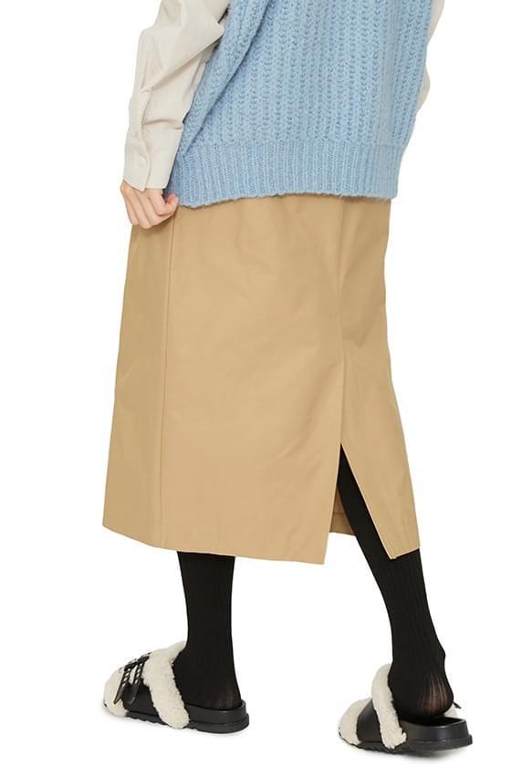 Flat basic midi skirt 裙子