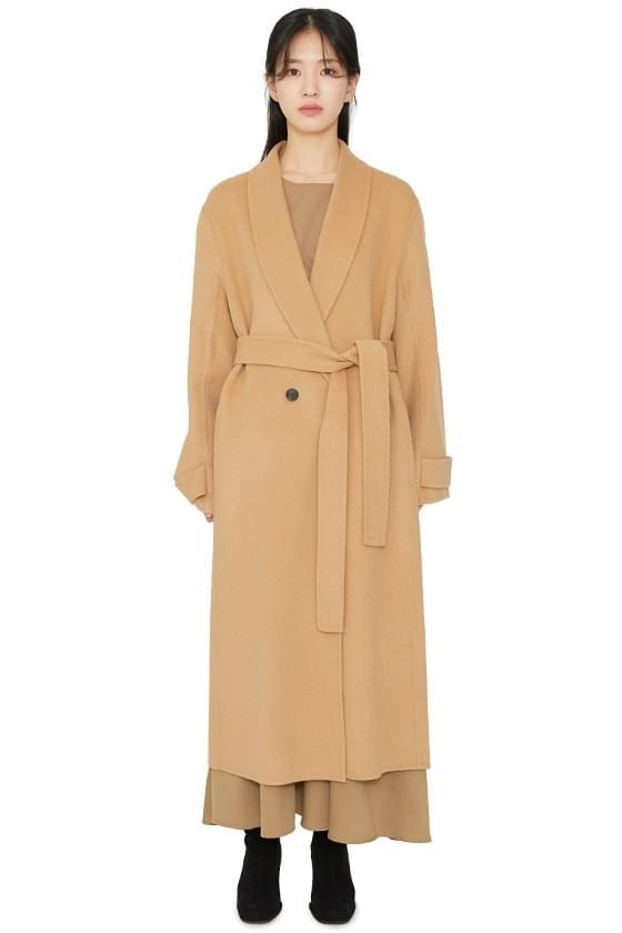 Urbane Shawl Collar Handmade Long Coat