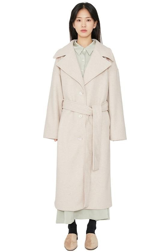 Big lapel overfit long coat