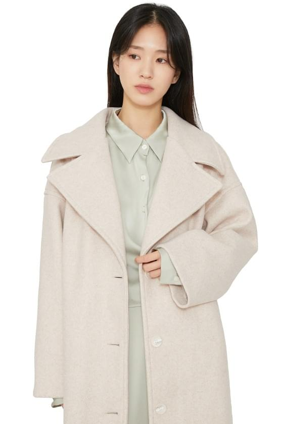 Big lapel overfit long coat 大衣外套
