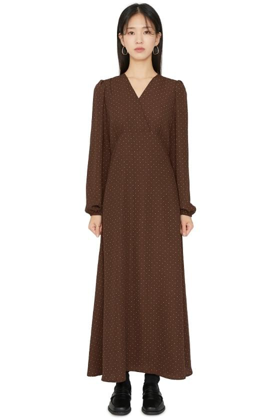 Of dot maxi dress