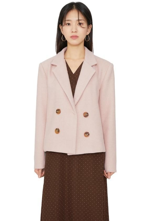 Faux wool short coat