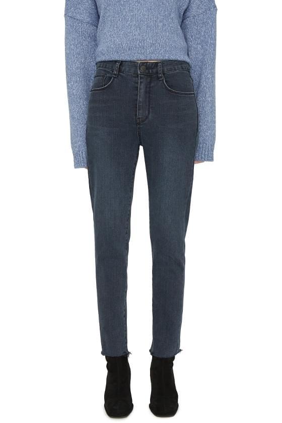 Sheer cut slim jeans