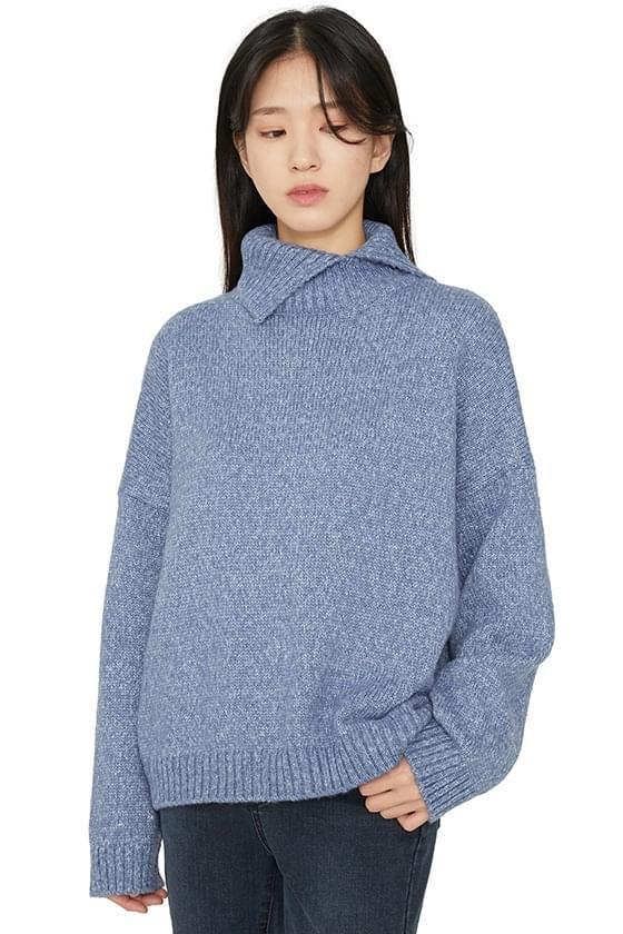 Shading slit turtleneck knit 針織衫