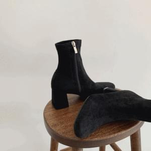 Suede Span Socks Boots 6cm